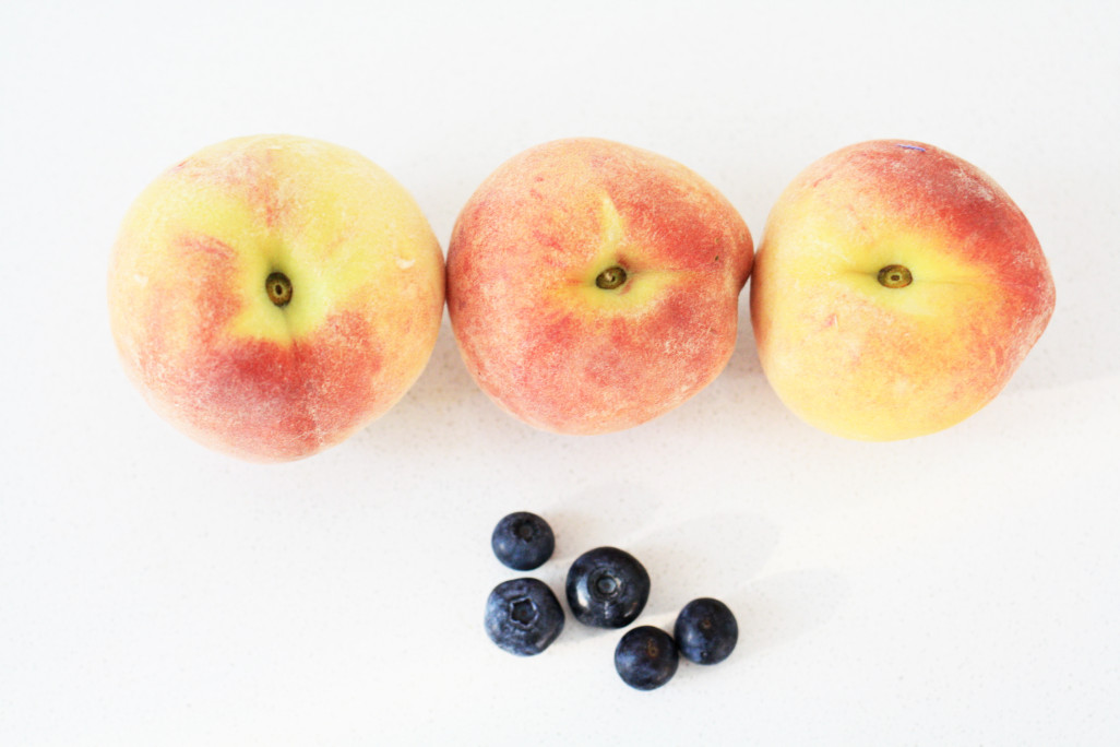Peach+Blueberries