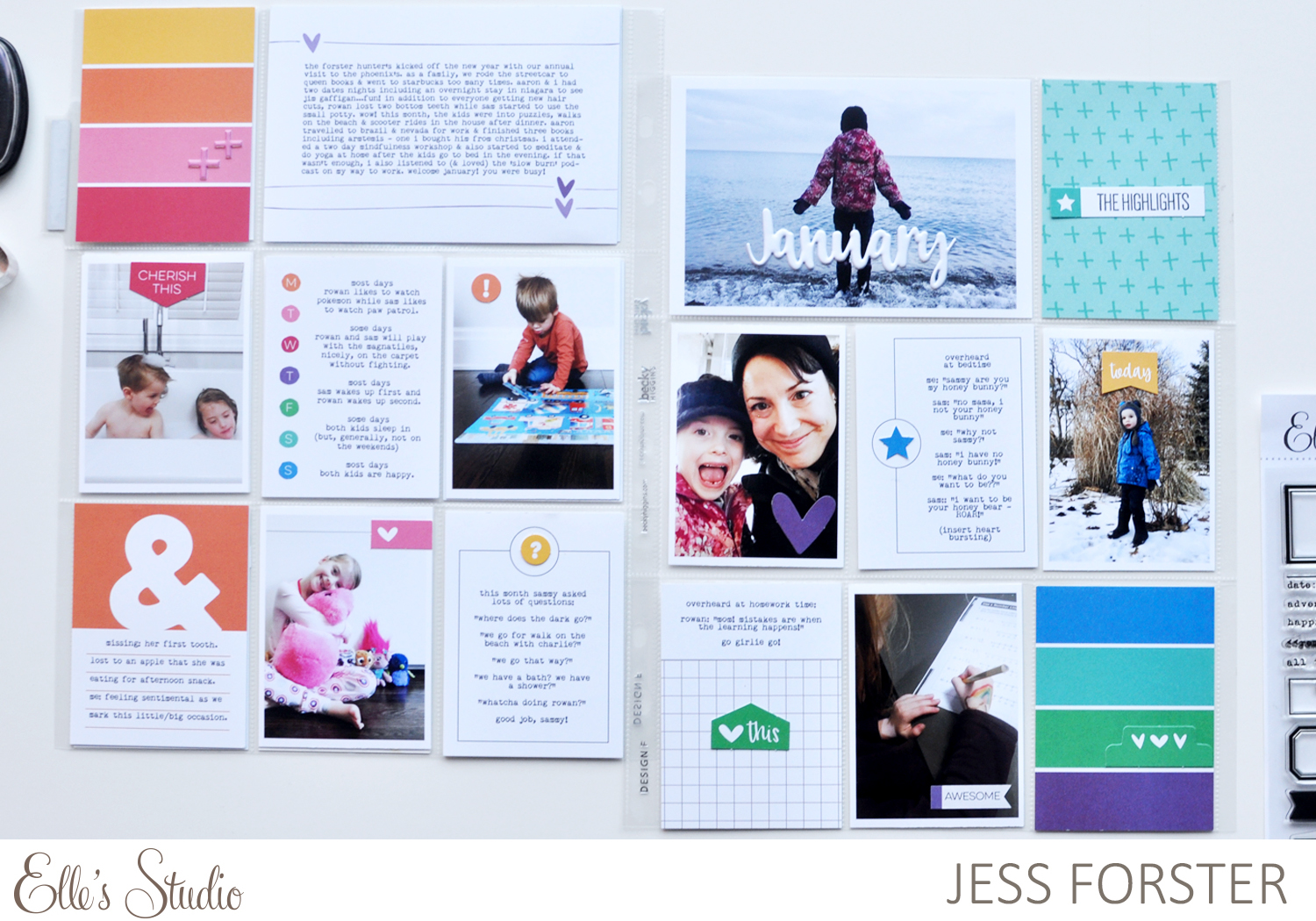 Elle's Studio : January Pocket Page Layout