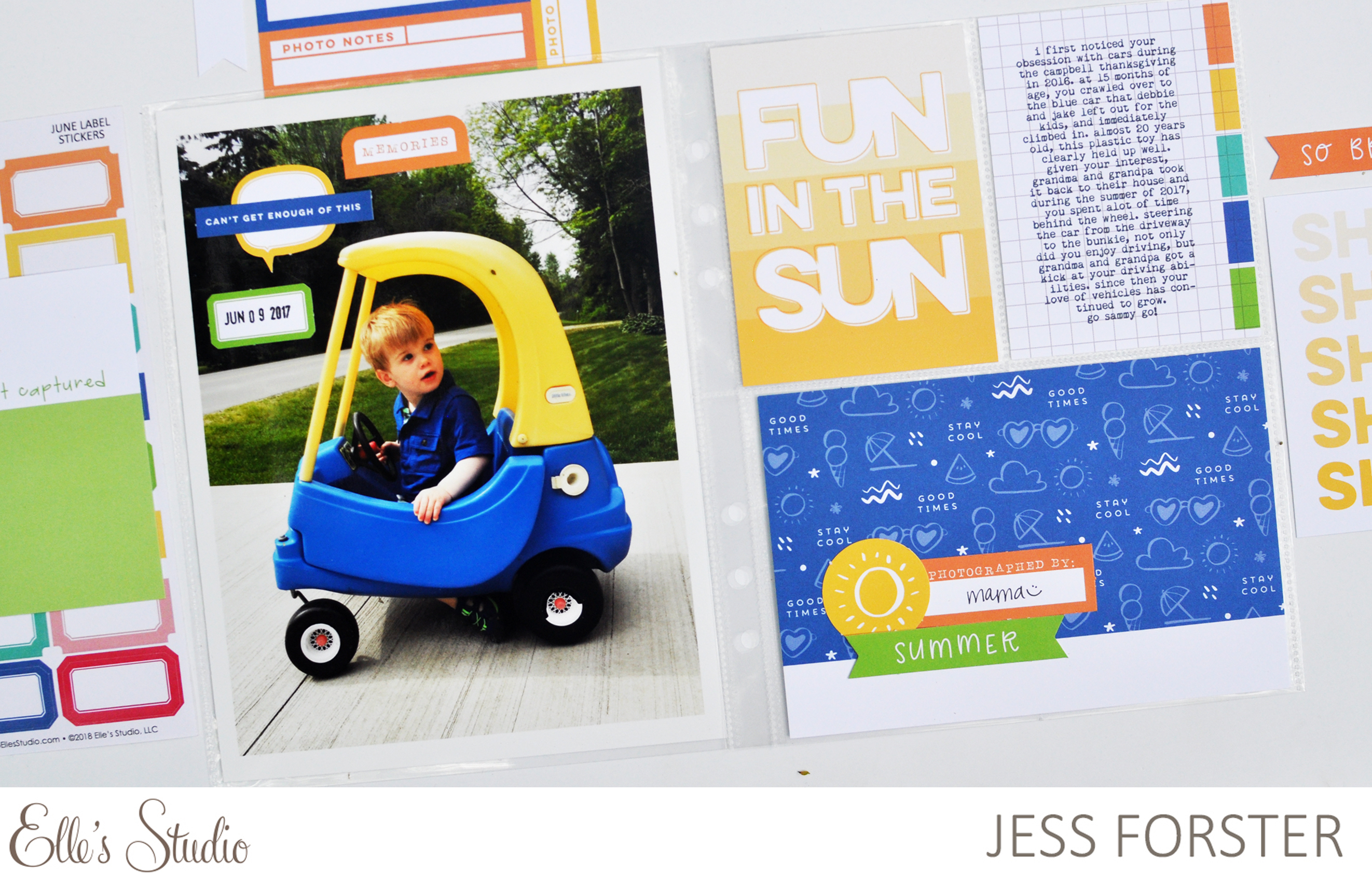 Elle's Studio: Fun in the Sun Layout